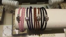 Authentic Chamilia Leather Wrap Bracelet Available in Multiple Sizes and Colors