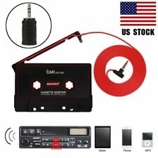 For iPOD MP3 iPhone Car Audio Tape Cassette AUX 3.5mm 2.5mm Connector to Car