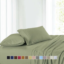 100% Cotton 300 Thread Count Sheet Set, Stripe Attached Waterbed Sheets