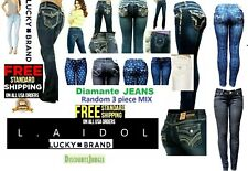Juniors WOMENS BLUE Denim Stretch JEANS Skinny Ripped Distressed Pants JS-1687