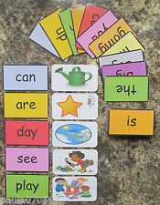 Reception class first words and picture cards, full colour 9.5cm x 5.5cm Each