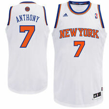 Mens New York Knicks Carmelo Anthony adidas White Swingman Home Jersey