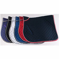 RHINEGOLD QUILTED SADDLE CLOTH WITH PIPED EDGE - 6 COLOURS