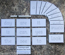 Reception class spelling the first 45 words cards, 9.5cm x 5.5cm Each + Pen