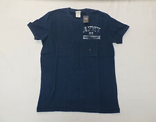 Abercrombie & Fitch Men's Woodsfall Trail Muscle Fit T-Shirt Navy Blue NWT $30