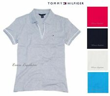 WOMENS TOMMY HILFIGER V NECK LINE POLO SHIRT