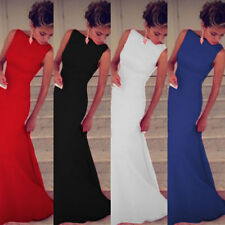 Womens Long Formal Wedding Evening Party Ball Gown Prom Bridesmaid Dress AU 8-18