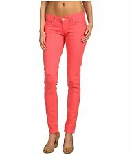 Levis 524 Skinny Jeans Womens Sunkist Coral Super Low Rise Colored Stretch Denim