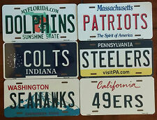 "NFL Team State Metal License Plate Tag 12"" x 6"" *Read Description*"