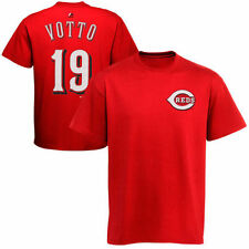 Joey Votto Cincinnati Reds Majestic Official Name and Number T-Shirt - Red - MLB
