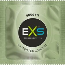 EXS SNUG FIT CONDOMS SMALLER SMALL FOR TIGHT TIGHTER FIT - FREE DICREET P&P
