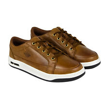 Harley-Davidson Jez Mens Brown Leather Lace Up Sneakers Shoes