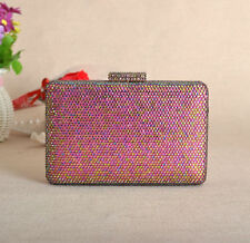 Austri Crystal Box Clutch Rhinestone Sparkle Shinny Evening Party Bridal Clutch
