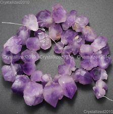 Natural Amethyst Gemstone Large Rough Baroque Nugget Loose 10mm- 23mm Beads 16''