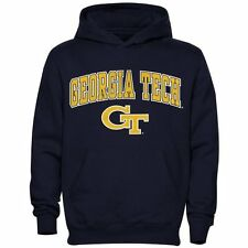 Georgia Tech Yellow Jackets Youth Midsized Pullover Hoodie - Navy Blue - NCAA