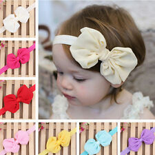 Lovely Cute Kids Girls Headband Baby Toddler Flower Hair Bow Band FM.C M