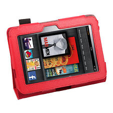 PU Leather Case Stand Holder For Amazon Kindle Fire HD 9""