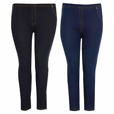 New Womens Skinny Fitted Plus Size Denim Look Stretch Jegging Pants Jeans 16/26