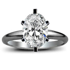 6.23 Carat Oval Cut Diamond Engagement Solitaire Wedding Ring  GSI1