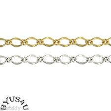 FIGARO CHAIN 9x6mm SOLDERED LINK SOLD BY THE YARD FREE SHIPPING WHOLESALE