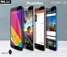 "NEW BLU Studio 7.0 HD D700A Unlocked 4G 7.0"" Android Phone 5MP Camera Multi New"