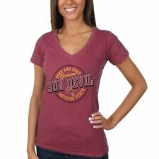 Arizona State Sun Devils Women's Born and Bred Melange V-Neck T-Shirt – Maroon