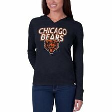 Chicago Bears '47 Brand Womens Primetime Hooded Long Sleeve T-Shirt – Navy Blue