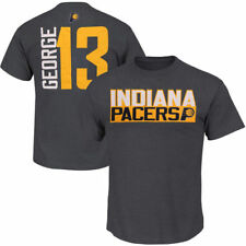 Mens Paul George Gray Indiana Pacers Vertical Name & Number T-Shirt - NBA