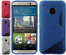 For HTC One M9 TPU CANDY S-Line Flexi Gel Skin Case Cover S-Shape Accessory