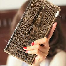 Crocodile Design Genuine Leather Women Wallet Lady Hand Bag Luxurious Purse