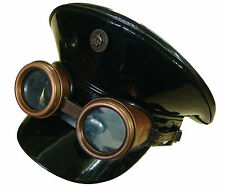 Steampunk Military style PVC hat with handmade rustic goggles