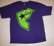 NEW FAMOUS STARS AND STRAPS short sleeve tee t shirt boys youth XL 18 20  purple