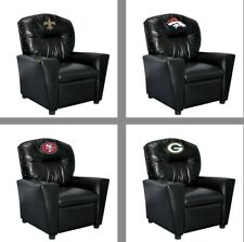 Choose Your NFL Team Black Faux Leather Tween Recliner Arm Chair by Imperial