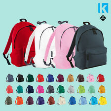 Backpack Bag Back To School Rucksack Retro Student Unisex Plain Cheap on Sale