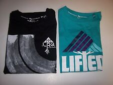 NEW LRG Lifted Research Group black blue t shirt boys small medium large