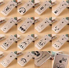 Cute Disney Cartoon Crystal Rubber Clear Soft Case Cover For iPhone 6 / 6 Plus