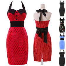 CHEAP~ VINTAGE RETRO 1940s 50's ROCKABILLY PENCIL WIGGLE PIN UP PARTY TEA DRESS