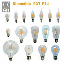 E14 E27 2/4/6//8W NEW Warm White Retro Filament LED Bulb Candle Light Spot Lamp