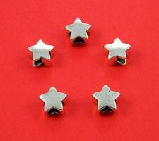 Metal Antique Silver Star Beads For Paracord Bracelets & Lanyards - US Seller