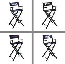 Choose NFL Team Folding Wood & Canvas Bar Height Directors Chair by Imperial