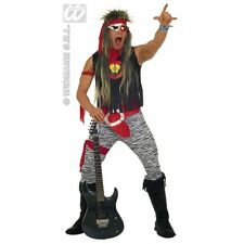 Mens Rock Star Costume Outfit for 80s Fancy Dress