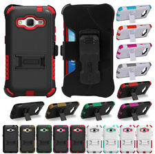 RUGGED CASE + BELT CLIP HOLSTER STAND FOR SAMSUNG GALAXY CORE PRIME PREVAIL LTE