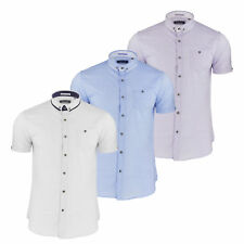 Mens Short Sleeve Shirt by Designer Brave Soul Textured Cotton New S-XL