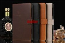 Auto Wake/Sleep Luxury Magnetic Card Slot Leather Wallet Purse Stand Case Pouch