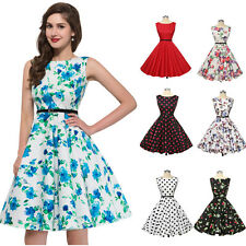 Vintage Style 1950s Rockabilly Swing Pinup Evening PINUP TEA Length Mother Dress