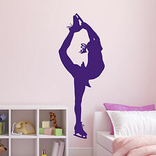 Ice Skater Wall Sticker - Ice Figure Skater Decal