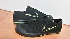 Nike Capri Athletic Sneakers Black/green fluorescent/Canvas, Mediu Size:US 7/US9