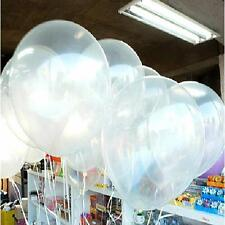 100 x Clear Transparent Party Wedding Birthday Decor Decal Balloons 10inch 25cm