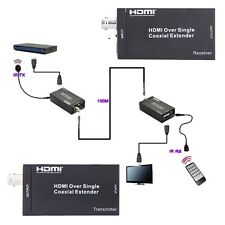 100m/328ft HDMI Extender + IR Over Single Coaxial Cables/sockets Multimedia