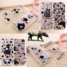 Funny Animal Malayan Tapir Cartoon Clear Soft Case Cover For iPhone 6 / 6 Plus